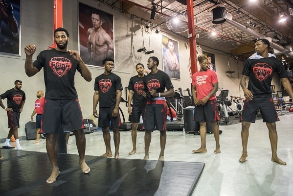 Nba Basketball Players From The Detroit Pistons Prepare To Train With Ufc Fighters At