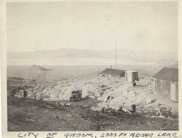 The Groom Mine site near Groom Lake is shown in this undated photo. Courtesy, Sheahan family