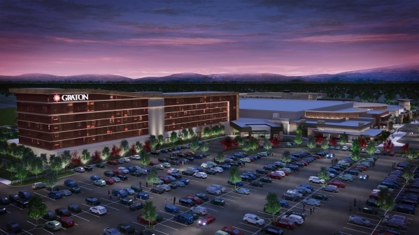 A $175 million, 200-room hotel tower at the Graton Resort & Casino, 45 minutes north of San Francisco, is shown in this rendering. Station Casinos operates the property. The project should be  ...