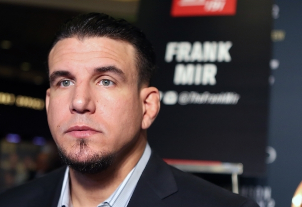 Frank Mir, UFC heavyweight contender, appears during UFC 191 Ultimate media day at MGM Grand hotel-casino in Las Vegas on Thursday, Sep. 3, 2015. BIZUAYEHU TESFAYE/LAS VEGAS REVIEW-JOURNAL FOLLOW  ...