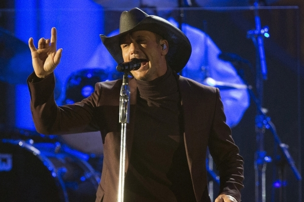 Singer Tim McGraw will be the grand finale headliner at the Route 91 Harvest festival, set for Oct. 2 to 4 on outdoor grounds across from Mandalay Bay. REUTERS FILE