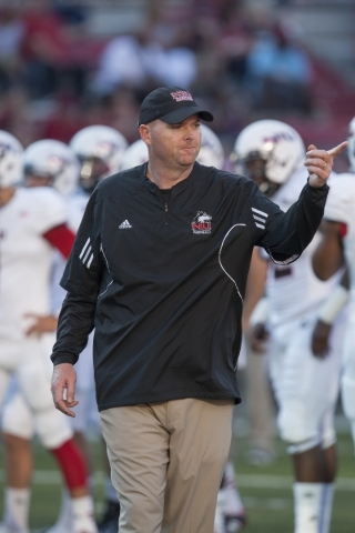 """Northern Illinois coach Rod Carey said UNLV's Tony Sanchez is """"a super special coach. ... He knows what he's doing."""" COURTESY NORTHERN ILLINOIS"""