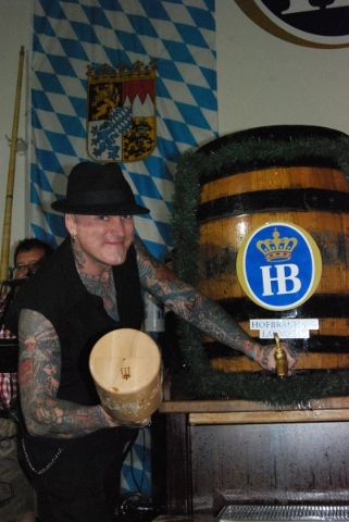 Reality star, musician and tattoo artist dirk Vermin is among the local celebrities set to perform keg tapping ceremonies at the Oktoberfest at the Hofbrauhaus. (Special to View)