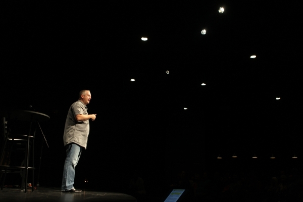 Pastor Vince Antonucci speaks during service at Verve church in Las Vegas Sunday, Sept. 9, 2015. ERIK VERDUZCO/LAS VEGAS REVIEW-JOURNAL Follow him @Erik_Verduzco