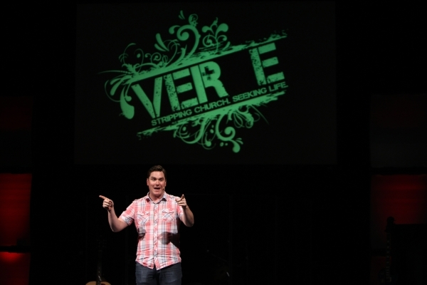 Executive pastor Ryan Lunceford speaks during service at Verve church in Las Vegas Sunday, Sept. 9, 2015. ERIK VERDUZCO/LAS VEGAS REVIEW-JOURNAL Follow him @Erik_Verduzco