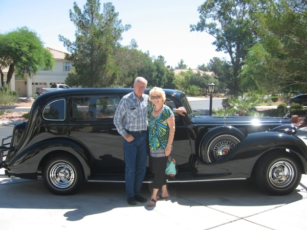 Bob and June Womack stand beside their 1938 Packard in this undated photo. The car is one of more than 120 slated to be featured in the Sun City Car Show set for Sept. 20 at Mountain Shadows Commu ...