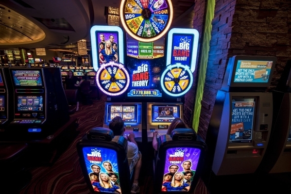 """A slot machine based on the television Show """"The Big Bang Theory"""" is shown at Red Rock casino-resort in Las Vegas on Tuesday, Sept. 8, 2015. Joshua Dahl/Las Vegas Review-Journal"""