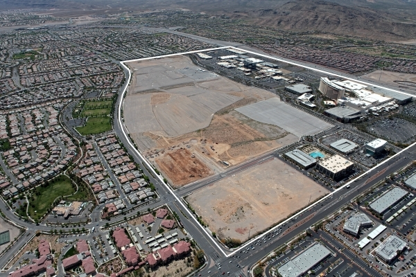 Area yet to be developed at Downtown Summerlin is shown in this undated aerial shot. (Courtesy)