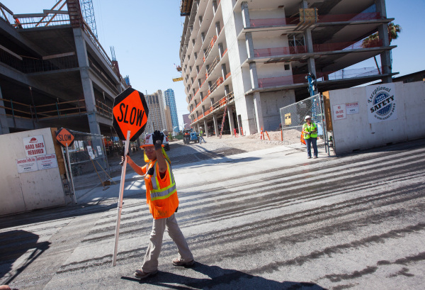 The entrance to the construction site for the Lucky Dragon hotel-casino is shown in Las Vegas on Friday, Sept. 11, 2015. Chase Stevens/Las Vegas Review-Journal Follow @csstevensphoto