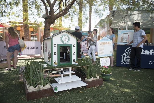 "A ""Starbarks"" dog house is a raffle prize at the Southern Nevada Home Builders Association's raffle and pet adoption to benefit its HomeAid charity at Town Square Las Vegas in Las  ..."