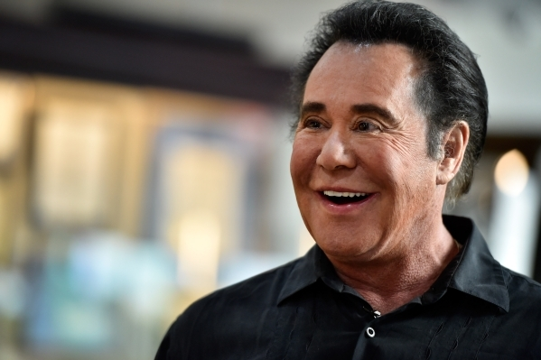 Entertainer Wayne Newton speaks about the memorabilia displayed as he tours the recently completed museum at Casa de Shenandoah on Monday, Sept. 14, 2015, in Las Vegas. The ranch at Sunset and Pec ...