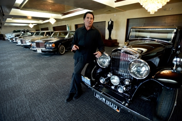 Entertainer Wayne Newton speaks about memorabilia including his automobile collection as he tours the recently completed museum at Casa de Shenandoah on Monday, Sept. 14, 2015, in Las Vegas. The r ...