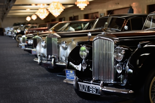 A collection of classic automobiles including Rolls Royces and Bentleys are displayed at Casa de Shenandoah on Monday, Sept. 14, 2015, in Las Vegas. The ranch at Sunset and Pecos roads in Las Vega ...