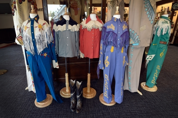 Early Wayne Newton performing costumes, homemade by his mother, are display in the museum at Casa de Shenandoah on Monday, Sept. 14, 2015, in Las Vegas. The ranch at Sunset and Pecos roads in Las  ...
