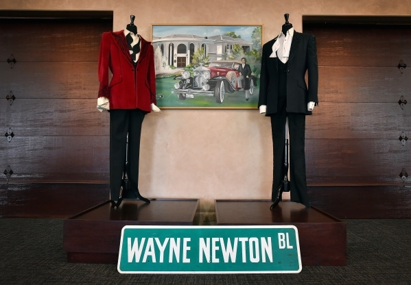 Costumes from Wayne Newton's performance career are displayed at the museum at Casa de Shenandoah on Monday, Sept. 14, 2015, in Las Vegas. The ranch at Sunset and Pecos roads in Las Vegas is ...