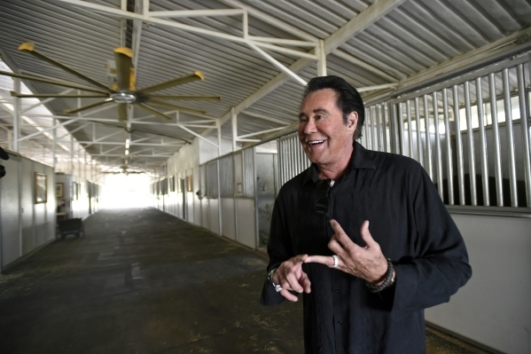 Wayne Newton speaks about his Arabian horse collection at Casa de Shenandoah on Monday, Sept. 14, 2015, in Las Vegas. The ranch at Sunset and Pecos roads in Las Vegas is scheduled to open for publ ...