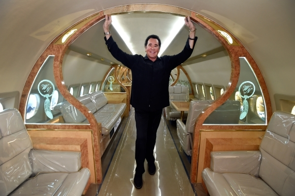 Entertainer Wayne Newton poses in the interior of his now decommissioned 1969 Fokker jet that is parked at Casa de Shenandoah on Monday, Sept. 14, 2015, in Las Vegas. The ranch at Sunset and Pecos ...