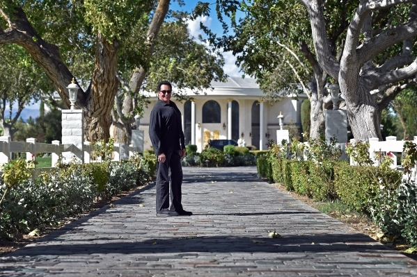 Entertainer Wayne Newton stands in front of the main house at Casa de Shenandoah on Monday, Sept. 14, 2015, in Las Vegas. The ranch at Sunset and Pecos roads in Las Vegas is scheduled to open for  ...
