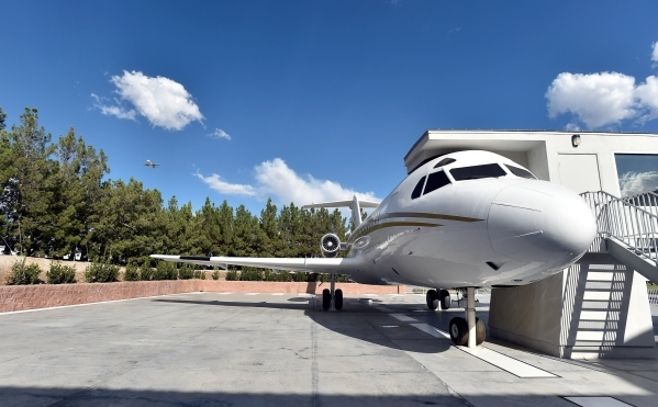 The decommissioned 1969 Fokker jet is seen parked at Casa de Shenandoah on Monday, Sept. 14, 2015, in Las Vegas. The ranch at Sunset and Pecos roads in Las Vegas is scheduled to open for public to ...