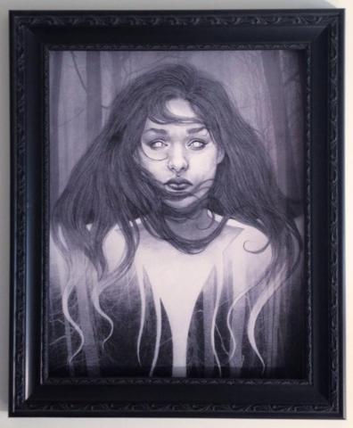"""Dark God"" by Jska Priebe is part of the show þÄúDark Allure,þÄù all new work by Jska Priebe, Mike Biggs and Dasha Biggs. Spectral Gallery at Downtown Spaces at 1800 In ..."