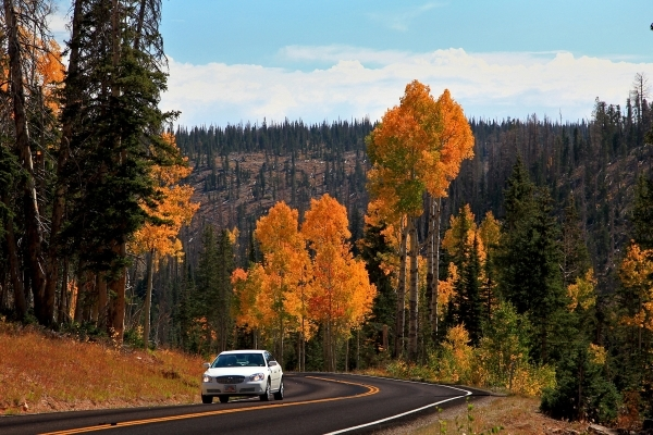 Utah Route 143, the road from Parowan to Panguitch, is known for its scenery and its connection to a pioneer incident known as the Quilt Walk. UTAH OFFICE OF TOURISM
