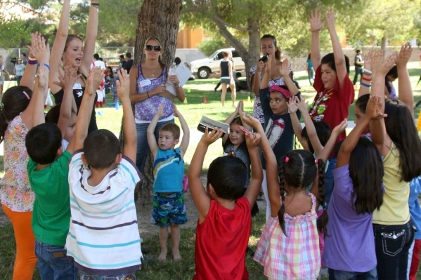 Children take part in a music train during the 2014 festival. (Special to View)