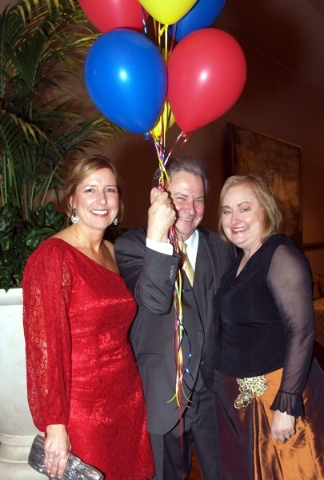 Lisa Habighorst, from left, Gary Milby and Judy Reich