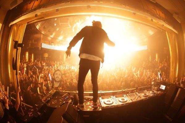 David Guetta at XS on Friday. (Courtesy Danny Mahoney)