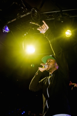 Eric Bellinger sang at LAX on Saturday. (Courtesy)