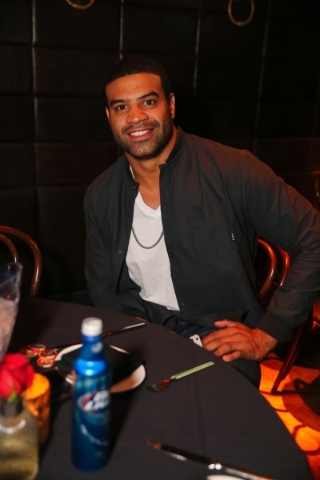 NFL star Shawne Merriman hosted a viewing party at the new Lavo Casino Club in the Palazzo on Sunday. (Courtesy)