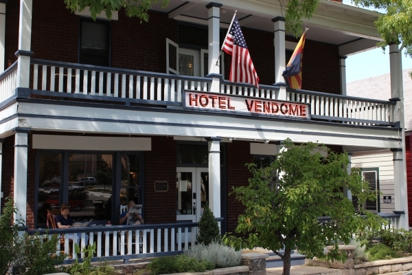 Saturday morning breakfast action on the front porch of the Hotel Vendome, just a short walk from Prescott's Courthouse Plaza. Jim Wright/Las Vegas Review-Journal