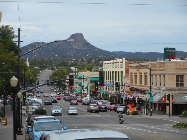 Prescott's West Gurley Street, with iconic Thumb Butte in the distance. Jim Wright/Las Vegas Review-Journal