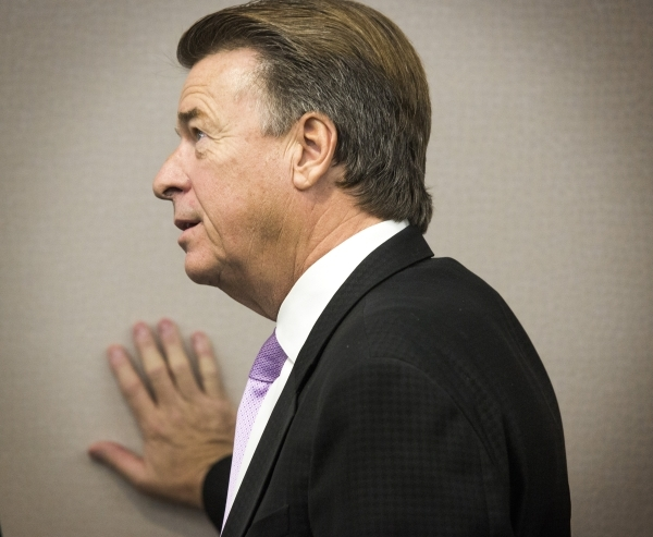 Gregg Giuffria, CEO of G2 Game Design during a Nevada Gaming Commission hearing on skill-based gaming  at  Grant Sawyer Building on Thursday, Sept. 17,2015. The commission chairman approved regula ...