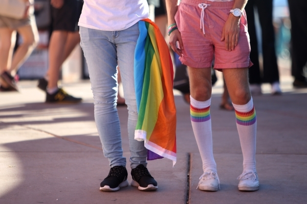 Attendees participate during the Pride Festival outside of the Clark County Government Center in Las Vegas Saturday, Sept. 19, 2015. ERIK VERDUZCO/LAS VEGAS REVIEW-JOURNAL Follow him @Erik_Verduzco