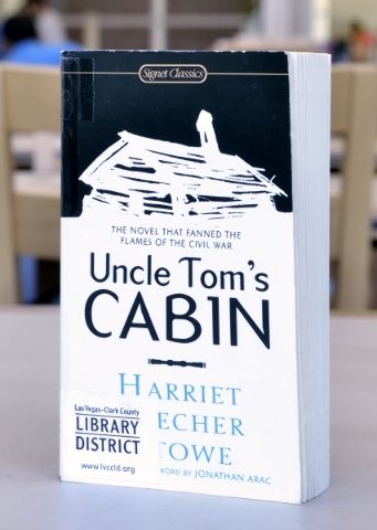 ìUncle Tomís Cabinî is shown at the Windmill Library on Friday, Sept. 18, 2015. It is one of the books at the library that some patrons felt contained objectionable content. Bill Hughes/L ...