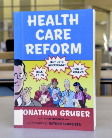 ìHealth Care Reformî is shown at the Windmill Library on Friday, Sept. 18, 2015. It is one of the books at the library that some patrons felt contained objectionable content. Bill Hughes/Las ...