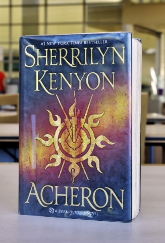 ìAcheronî is shown at the Windmill Library on Friday, Sept. 18, 2015. It is one of the books at the library that some patrons felt contained objectionable content. Bill Hughes/Las Vegas Revi ...