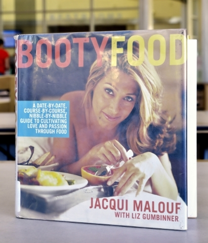 ìBooty Foodî is shown at the Windmill Library on Friday, Sept. 18, 2015. It is one of the books at the library that some patrons felt contained objectionable content. Bill Hughes/Las Vegas R ...