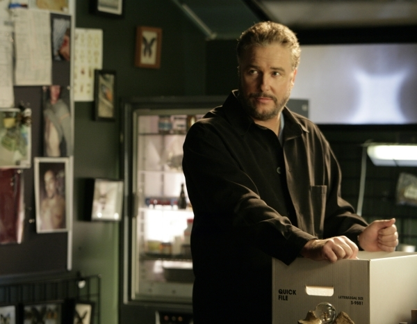 Gil Grissom (William Petersen) packs up to leave during the ninth season. (Sonja Flemming/CBS)