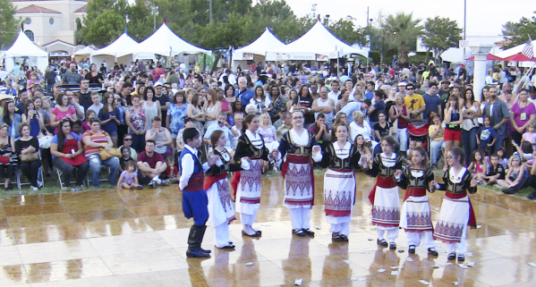 Children of St. John the Baptist Greek Orthodox Church, 5300 S. El Camino Road, in Las Vegas, perform a traditional Greek dance at the Las Vegas Greek Festival in September 2012. (Stephen Carabas/ ...