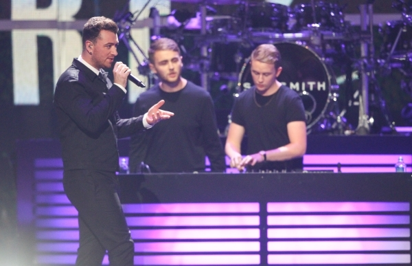 Sam Smith performs with Disclosure during the iHeartradio Music Festival at the MGM Grand Garden Arena in Las Vegas on Friday, Sept. 18, 2015. Chase Stevens/Las Vegas Review-Journal Follow @csstev ...