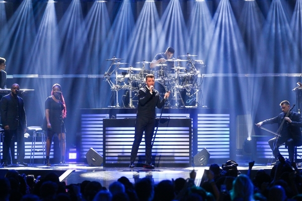 Sam Smith performs during the iHeartradio Music Festival at the MGM Grand Garden Arena in Las Vegas on Friday, Sept. 18, 2015. Chase Stevens/Las Vegas Review-Journal Follow @csstevensphoto