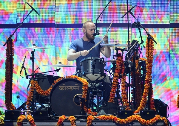 Will Champion of Coldplay performs during the iHeartradio Music Festival at the MGM Grand Garden Arena in Las Vegas on Friday, Sept. 18, 2015. Chase Stevens/Las Vegas Review-Journal Follow @csstev ...