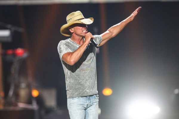 Kenny Chesney performs during the iHeartradio Music Festival at the MGM Grand Garden Arena in Las Vegas on Friday, Sept. 18, 2015. Chase Stevens/Las Vegas Review-Journal Follow @csstevensphoto