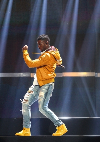 Jason Derulo performs during the iHeartRadio Music Festival at the MGM Grand Garden Arena in Las Vegas on Friday, Sept. 18, 2015. Chase Stevens/Las Vegas Review-Journal Follow @csstevensphoto
