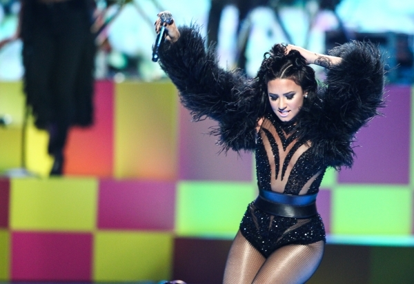Demi Lovato performs during the iHeartRadio Music Festival at the MGM Grand Garden Arena in Las Vegas on Friday, Sept. 18, 2015. Chase Stevens/Las Vegas Review-Journal Follow @csstevensphoto