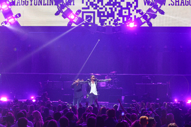 Shaggy performs during the iHeartRadio Music Festival at the MGM Grand Garden Arena in Las Vegas on Friday, Sept. 18, 2015. Chase Stevens/Las Vegas Review-Journal Follow @csstevensphoto
