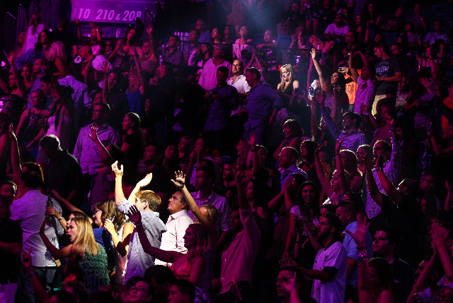 The crowd is shown during the iHeartRadio Music Festival at the MGM Grand Garden Arena in Las Vegas on Friday, Sept. 18, 2015. Chase Stevens/Las Vegas Review-Journal Follow @csstevensphoto