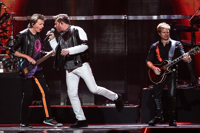 Duran Duran perform during the iHeartRadio Music Festival at the MGM Grand Garden Arena in Las Vegas on Friday, Sept. 18, 2015. (Chase Stevens/Las Vegas Review-Journal) Follow @csstevensphoto