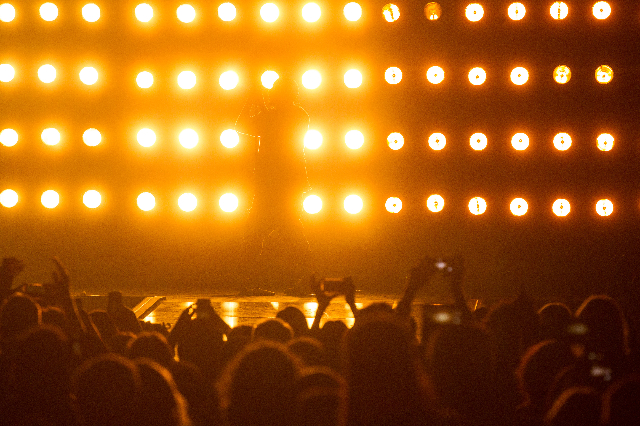 Kanye West performs during the iHeartRadio Music Festival at the MGM Grand Garden Arena in Las Vegas on Friday, Sept. 18, 2015. Chase Stevens/Las Vegas Review-Journal Follow @csstevensphoto